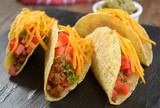 Tacos with ground beef and vegetables
