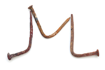 forged nails letters