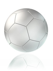 white soccer ball
