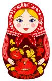 Matryoshka Doll in Red