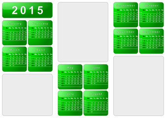 Calendar 2015 - English - 003 green
