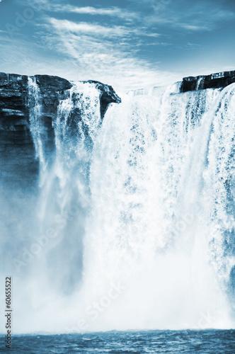 Leinwanddruck Bild Waterfall