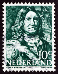 Postage stamp Netherlands 1943 Johan Evertsen, Dutch Admiral