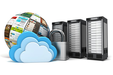 3 verschlüsselte Cloud Computing Server mit Templates