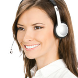 Customer support phone operator, isolated