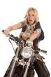 woman on motorcycle with kangaroo shocked