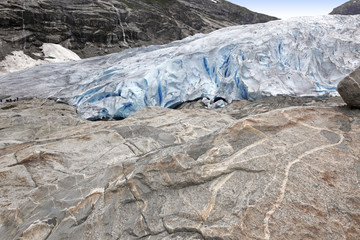 Norway, Jostedalsbreen National Park. Famous Briksdalsbreen glac