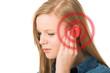 Leinwanddruck Bild - Tinnitus