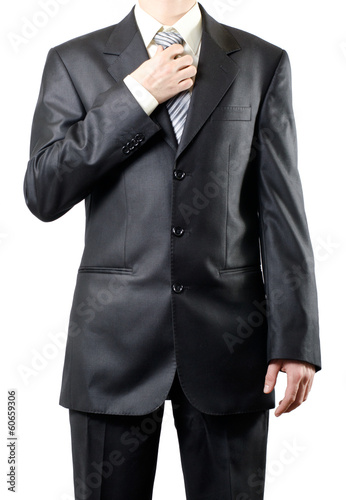 Man in suit Isolated on white
