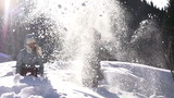 Winter Joy. Slow Motion at a rate of 240 fps