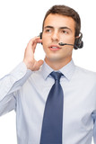friendly male helpline operator