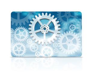 Cog wheel style credit card design template
