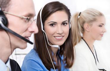 Callcenter oder Mitarbeiter in Teleshopping