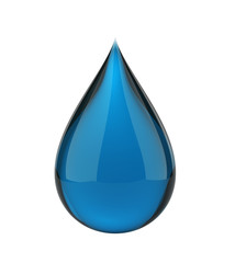 Blue cleaner drop isolated with clipping path