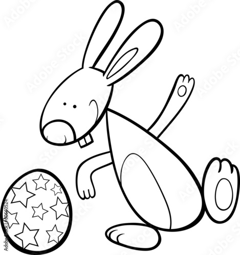 GamesAgeddon - funny easter bunny coloring page - Lizenzfreie Fotos ...