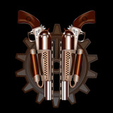 Two steampunk revolvers