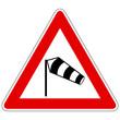 Seitenwind von links – Gefahrzeichen