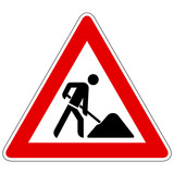 Baustelle - Gefahrzeichen