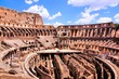 Interior of the famous Colosseum, Rome, Italy