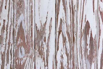 Flaking Peeling Paint On White Wooden Panelled Door