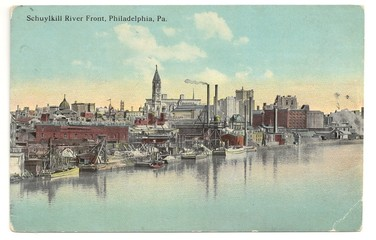 Panorama von Philadelphia (Postkarte von 1910)