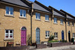 canvas print picture - Modern new terraced houses