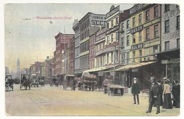 Philadelphia, Market Street (Postkarte von 1911)