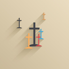 Vector creative flat ui icon background. Eps 10