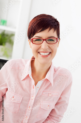 Smiling casual businesswoman