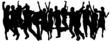 Vector silhouettes of dancing people. - 60663352