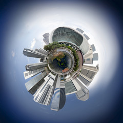 Singapore skyline miniplanet