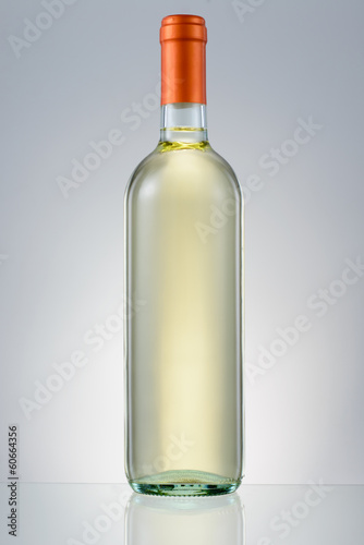 White wine bottle isolated