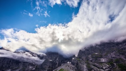 Timelapse, Trollveggen mountain, Norway