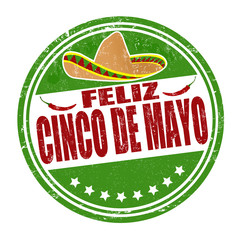 Feliz Cinco de Mayo stamp