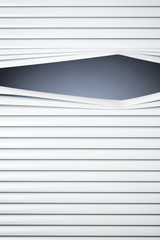Closed Blinds with a Peeking Hole
