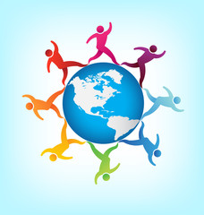 People around the world Americas
