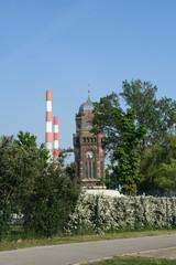 Tower in guglgasse near gasometers  wien