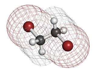Ethylene dibromide (EDB, 1,2-dibromoethane) fumigant molecule.