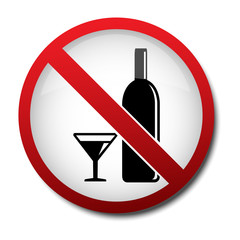 sign no alcohol 2d