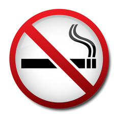 sign no smoking 2d