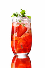 Fresh drink with strawberry