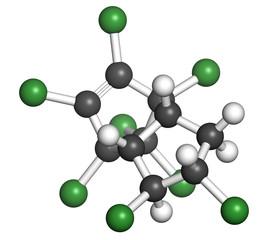 Chlordane banned pesticide molecule.