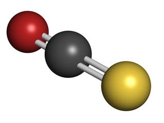 Carbonylsulfide (COS) molecule.