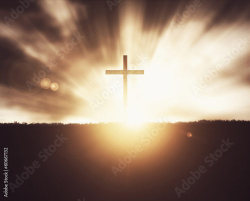 Cross at sunset. - 60667132