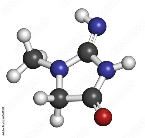 Creatinine molecule. Creatine breakdown product.