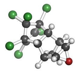 Dieldrin pesticide molecule.