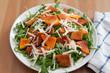 Rucola Salat mit Kürbis und Parmesan