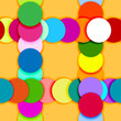 Seamless pattern frame made of color circles