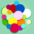 Multicolor circles and labels-3