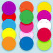 Colorful circles layered